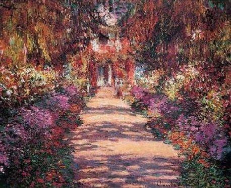 """Claude Monet """"Pathway in Monet's Garden"""""""