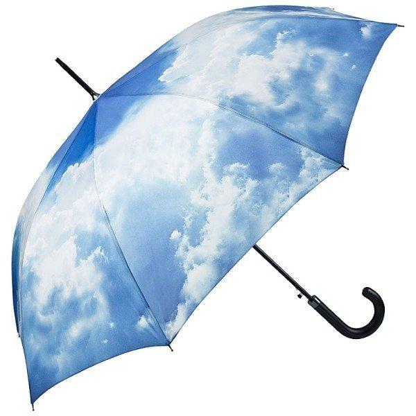 Niebo Chmury - Parasol długi ze skórzaną rączką