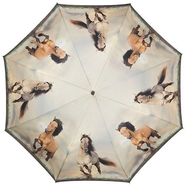 Dzikie konie - parasolka składana Von Lilienfeld