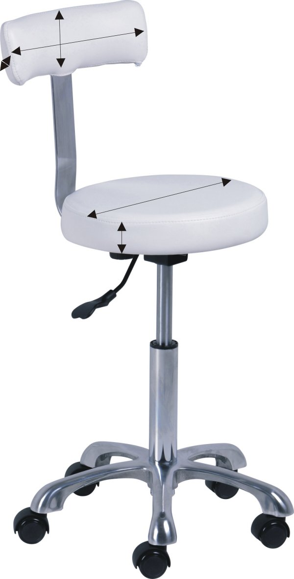 Interwell Splendid krzesełko zabiegowe pokrowiec kosmetyczny frotte, welur