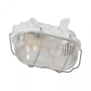 OVAL 60 7040T/R, oprawa oświetleniowa, 60W, E27, IP54, klosz szklany, stalowa osłona