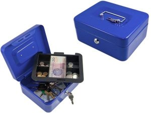 AG117C Kasetka na pieniądze niebieska