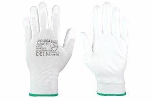 Rękawice robocze białe (z powłoką z poliuretanu)