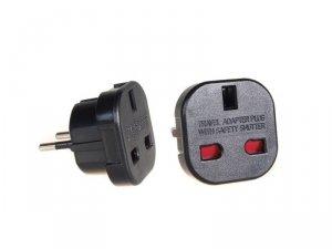 MCE72 Adapter gniazdo UK na wtyk EU czarny