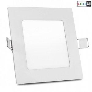 Panel LED sufitowy podtynkowy slim 6W Warm white 2800-3200K Led4U LD152W  120*120*H20mm