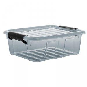 Pojemnik z pokrywą Plast Team Home Box 1,6L transparentny szary