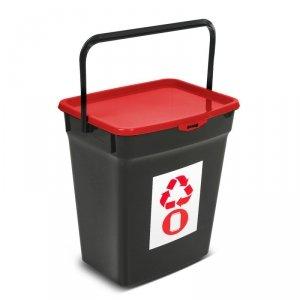 Kosz do segregacji śmieci Plast Team 10L czerwony