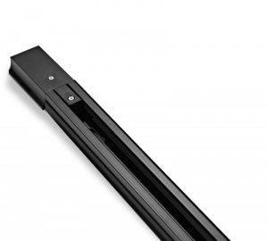 Listwa szynowa jednofazowa 150 cm czarna