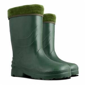 K1516240 Kalosze damskie z ociepliną (032), zielone, Eva, rozmiar 40