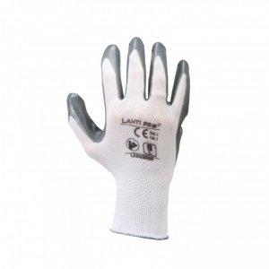 Rękawice nitr. szaro-białe l220309p, karta, 9, ce, lahti