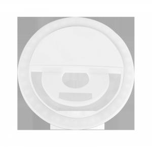 Lampa LED pierścieniowa do selfie biała