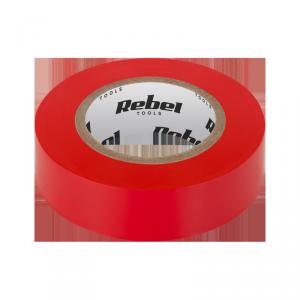 Taśma izolacyjna klejąca REBEL (0,13 mm x 19 mm x 10 yd) czerwona
