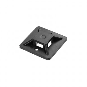 Uchwyt opaski kablowej, samoprzylepny, 30x30 mm, czarny, 50 sztuk