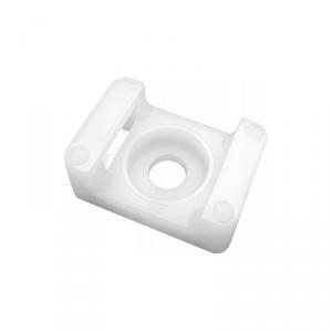 Uchwyt opaski kablowej, siodełkowy, przykręcany, 22x16 mm, otwór montażowy 6,8mm, biały, 20 sztuk