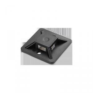 Uchwyt opaski kablowej, samoprzylepny, 20x20 mm, czarny, 10 sztuk