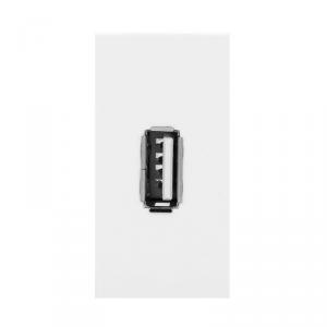 NOEN USB data, gniazdo modułowe 22,5x45mm USB data 2.0, piny, białe