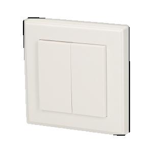 Włącznik podwójny natynkowy, do zdalnego sterowania włącznikami podtynkowymi i gniazdami ORNO Smart Living