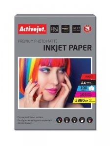 Papier matowy Activejet AP4-105M100 (A4; 100 szt.)