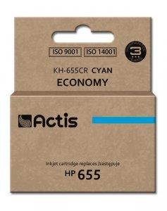 Tusz ACTIS KH-655CR (zamiennik HP 655 CZ110AE; Standard; 12 ml; niebieski)