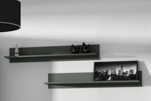 Półka 125cm (2szt) SOHO czarny mat