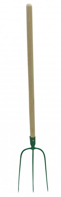 12283 Widły do siana 3-zębne 133 cm, trzonek drewniany 100 cm