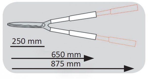 40050 Nożyce do żywopłotu 250mm, Proline