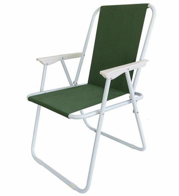 AG294B Krzesło plażowe zielone alu