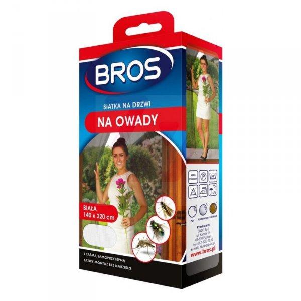 Siatka na drzwi przeciw owadom Bros 140x220 biała