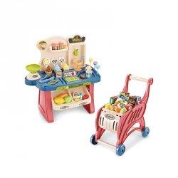 WOOPIE Sklep Supermarket Wózek na Zakupy Lody Słodycze + 40 Akc.