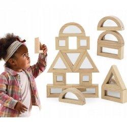 VIGA Drewniane Klocki Lustrzane układanka 24 elementy