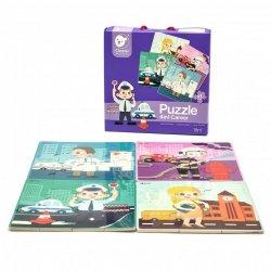 Układanka Puzzle dla dzieci 4 w 1 Zawody Classic World