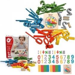 CLASSIC WORLD Gra Matematyczna Cyfry Znaki Działań Matematycznych Zegar