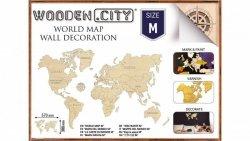 Puzzle 3D Mapa świata rozmiar M kolor naturalny