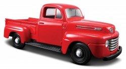Model kompozytowy Ford F1 Pickup 1948 czerwony 1/25