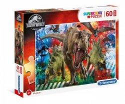Puzzle 60 elementów MAXI SUPER KOLOR Jurassic World