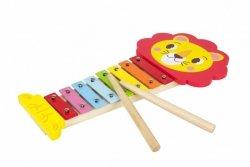 Cymbałki drewniane ksylofon Lew