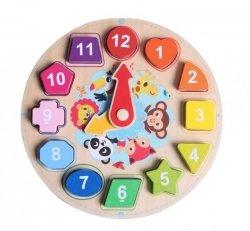Zegar drewniany układanka do nauki