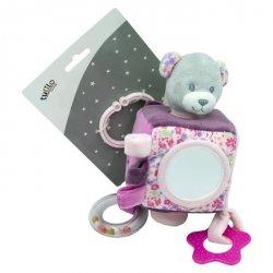 Maskotka Pluszowa kostka z dodatkami - Miś różowy