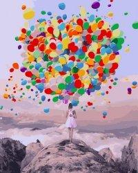 Obraz Malowanie po numerach - Baloniki