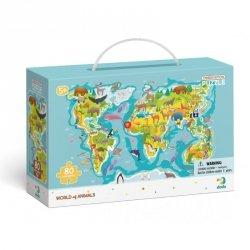 Dodo Puzzle Obserwacyjne Mapa Świata Zwierząt