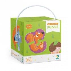 Dodo Puzzle 2-3-4 elementy Leśne zwierzęta