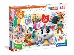 Puzzle podłogowe 40 elementów - 44 Koty