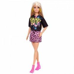 Lalka Barbie Fashionistas Różowa koszulka, spódnica