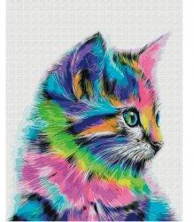 Obraz Malowanie po numerach - Kot neon