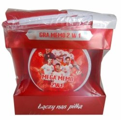 Gra Mega Memo 2 w 1 Puszka z szalikiem