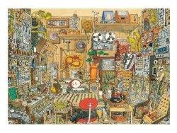 Puzzle 1000 elementów Szalone studio muzyczne, Adolfsson Mattias (Puzzle+plakat)