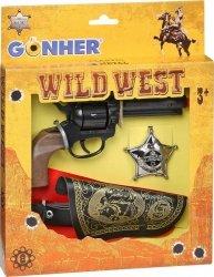 Zestaw kowbojski - Rewolwer z kaburą i odznaką Gonher