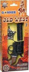 Zestaw rewolwer kowbojski z odznaką Gonher