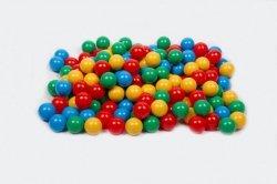 Piłki do basenu niebieska, żółta, czerwona, zielona