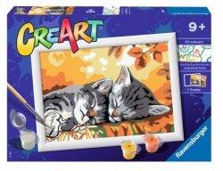 Malowanka CreArt dla dzieci Jesienne kotki